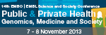 14th EMBO | EMBL Science and Society Conference: Public and Private Health – Genomics, Medicine and Society