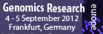 Genomics Research Europe 2012