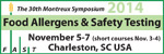 30th Montreux LC/MS Symposium - FOOD ALLERGENS and SAFETY TESTING (FAST)