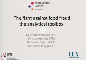 The Fight Against Food Fraud: The Analyt...