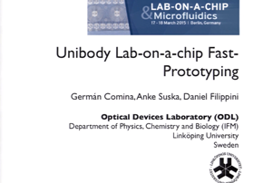 Unibody Lab-on-a-Chip Fast Prototyping...